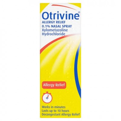 Otrivine allergy relief nasal spray 0.1% 10ml