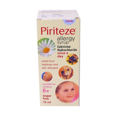 Piriteze Allergy Syrup Once-a-day 10MG70ML