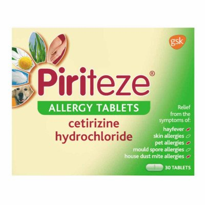 PIRITEZE tablets 10mg  30