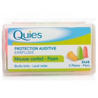 Quies foam ear plugs soft foam 3 pack
