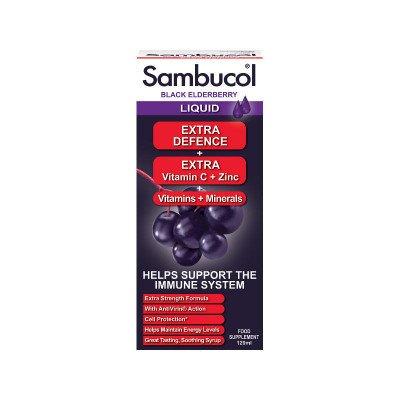 Sambucol black elderberry extract liquid extra defence 120ml