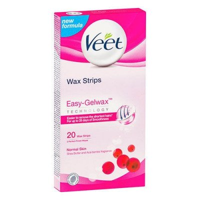 Veet cold wax leg strips normal legs and arms 20 pack