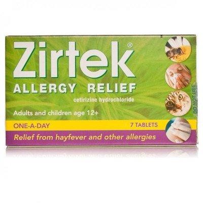 Zirtek Allergy Relief Tablets - 7 Tablets